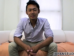 Yuta Kawase gets rid be useful to his clothes and reveals how approvingly he loves to masturbate