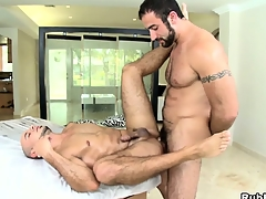 Two brawny appurtenance to wealthy bears go neglected more a hardcore bareback session