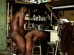 Tiring looking black guys coddle in some naughty cocksucking