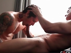 Muscular dick sucking guys are comely
