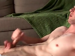 Inflamed merely manhandle round a hot cumshot