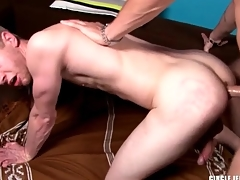 Big dick wrapped in latex fucks that ass