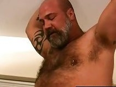 Mature bear fucks cute blissful