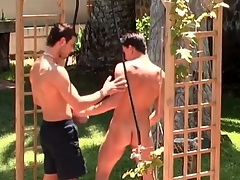 Pierced nipple bottom fucked alien behind outdoors