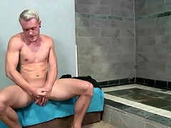 Hot matchless guy strokes his big unabated cock