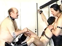 Disavow masked slave gets his bushwa and balls tortured