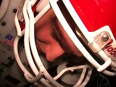 Real university dudes being hazed in their football pads