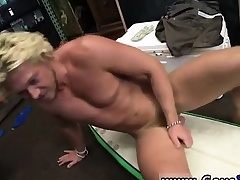 Irish gay hunks Blonde muscle surfer panhandler needs cash