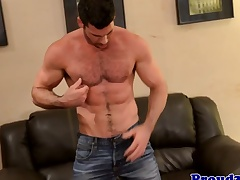 Mature corporeality Billy Santoro jerks thick tissue