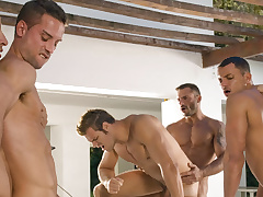 Angelo Marconi & Petter Fill & Austin Wilde & Sebastian Gola & Pedro Andreas at hand Burning desire Of An obstacle Moment, Scene #06