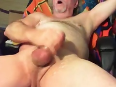 grandpa cum on the top of cam