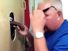 Gloryhole Large Rod Busting His Nut