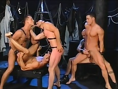 Five gays find some interesting positions to eat dick and bang ass