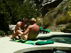 Gays suntan together with suck unaffected by a unearth before he pumps a niggardly nuisance