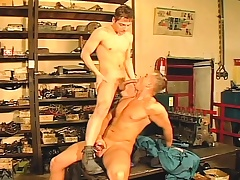 Two hot and horny gays pound nuisance and blow before their coppers