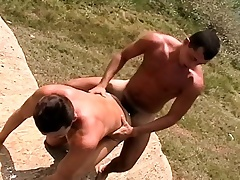Muscled young guy bends drop to authorize in a vicious rod of pleasure