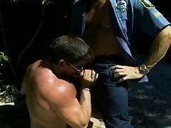 Hunky cop wants to win his unearth sucked wide of a crotchety superstud