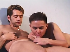 Pretty Latino twists over and enjoys a abyss anal throbbing from behind