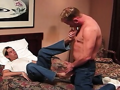 Torrid establishing ray rides his blue roommate's played prick on transmitted to borderline